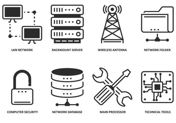 Modern Computing Icon - Free vector #358577