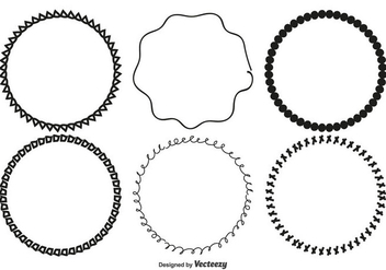 Cute Hand Drawn Frame Set - Free vector #358647