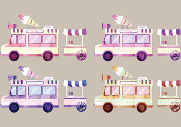 Vector Watercolor Vans - vector gratuit #358677