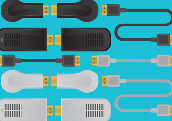 HDMI Devices And Cable Vectors - Free vector #358987