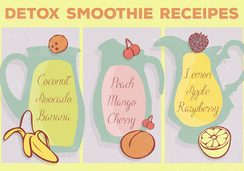 Free Smoothie Receipes Vector Background - vector #359057 gratis