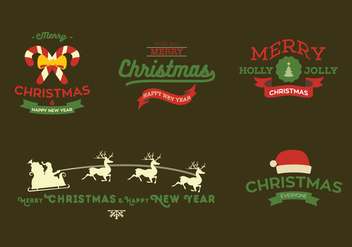 Christmas Card Vector - Free vector #359257