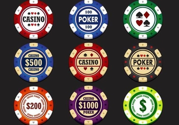 Casino Chip Vector - Free vector #359397