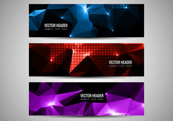 Free Vector Polygon Header - Free vector #360017