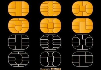 Microchip Vector Icons - Kostenloses vector #360027