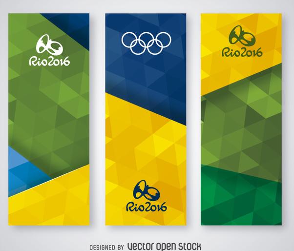 Rio 2016 banners set - vector #360057 gratis