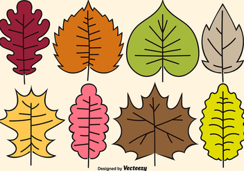Cartoon Vector Leaves - Free vector #360407