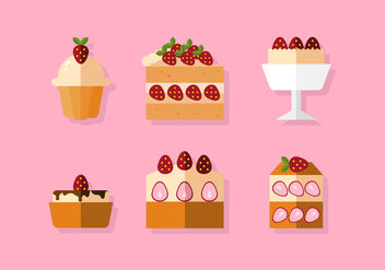 Vector Strawberry Shortcake - Free vector #360427