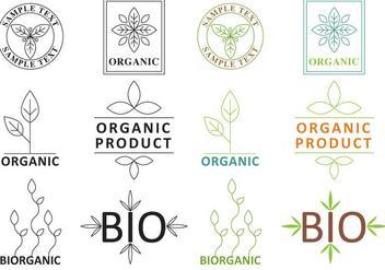 Organic Plant Logos - Free vector #360617