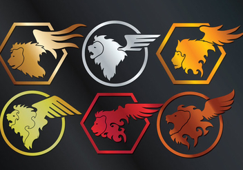 Winged Lion Vector - Free vector #360627