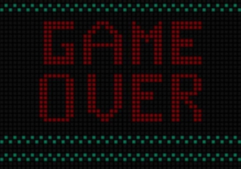 Game Over Free Vector Background - Free vector #360687