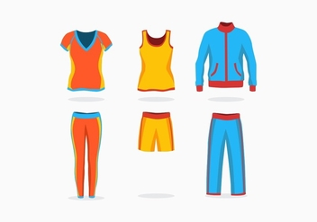 FREE TRACK SUIT VECTOR - Free vector #360707
