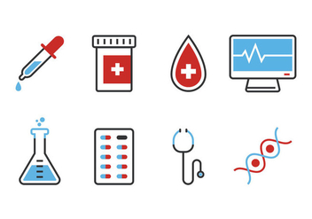 Medical Icon Set - Free vector #360847