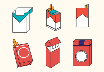 Cigarette Pack Vector Set - Kostenloses vector #361057