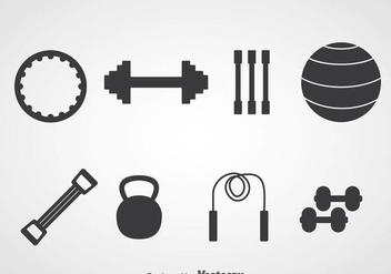 Fitness Silhouette Icons - Free vector #361177