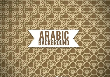 Arabic Ornament Brown Background - vector gratuit #361377