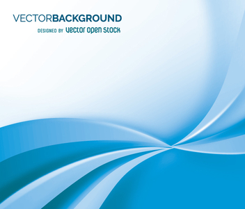 White and blue flowing backdrop - vector gratuit #361437