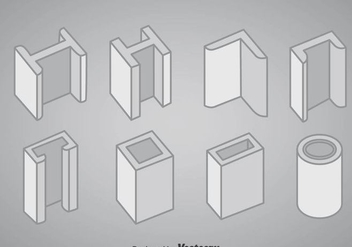 Steel Structure Icons Vector - Free vector #361547
