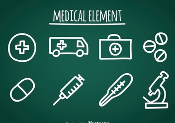 Medical Doddle Icons - Free vector #361577