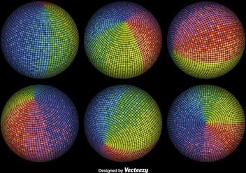Vector 3D Colorful Spheres - vector gratuit #361587