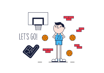 Free Basket Player Vector - Kostenloses vector #361807