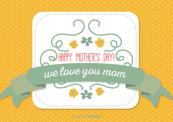 Cute Mother's Day Illustration - vector gratuit #361827