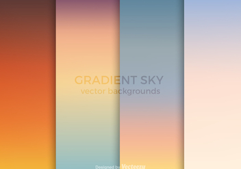 Free Gradient Sky Vector Backgrounds - vector gratuit #361837
