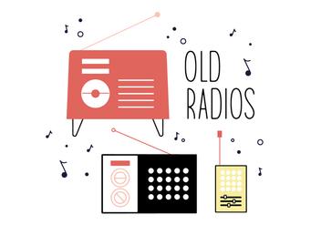 Free Old Radios Vector - vector #361847 gratis