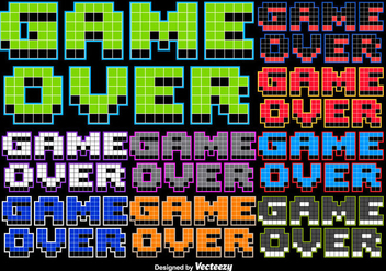 8 bit Game Over Stylized Message - Free vector #362167