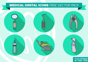 Medical Dental Icons Free Vector Pack - Kostenloses vector #362267