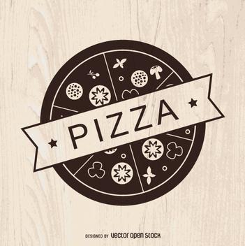 Vintage pizza logo - vector gratuit #362287