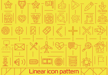 Free Flat Linear Icons Background - бесплатный vector #362407