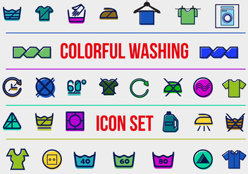 Free Washing Vector Icons - Free vector #362417