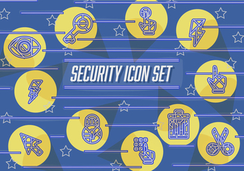 Free Abstract Security Vector Icons - vector #362447 gratis