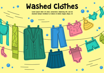 Free Washed Clothes Vector - Kostenloses vector #362507
