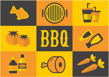 Free Barbecue Elements Vector - Free vector #362517