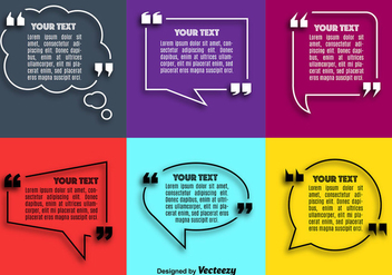 Vector Quote Speech Bubble Set - Kostenloses vector #362527