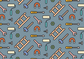 Tools Icons Pattern Vector - бесплатный vector #362587