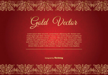Gold and Red Elegant Background Illustration - Free vector #362737
