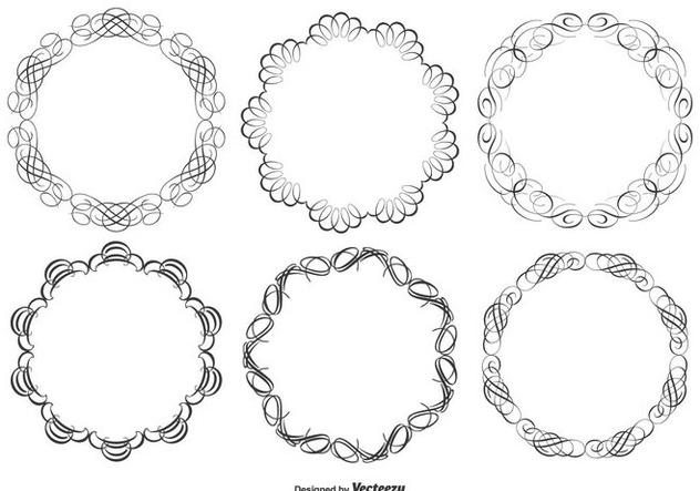 Decorative Frame Set - Free vector #362757
