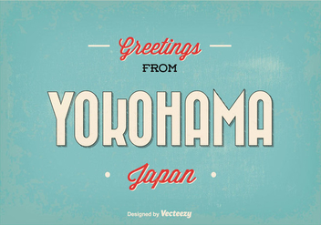 Yokohama Japan Greeting Illustration - vector gratuit #362777