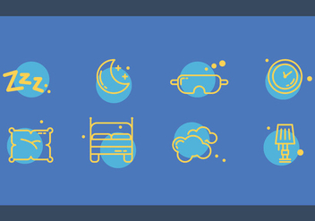 Free Bedroom Vector Set - бесплатный vector #362797