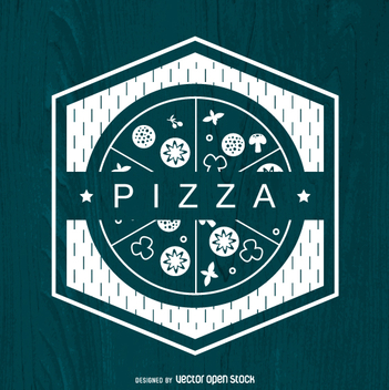 Polygonal pizza logo - Free vector #362967