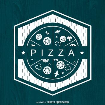 Polygonal pizza logo - vector gratuit #362967