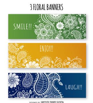 Floral banner set - Kostenloses vector #362987