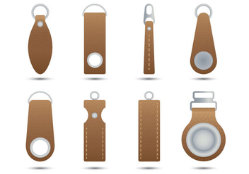 Leather Zipper Pull - Kostenloses vector #363077