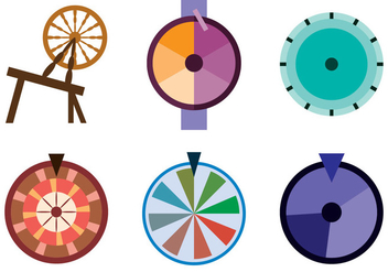 Spinning Wheel Vector - vector gratuit #363117