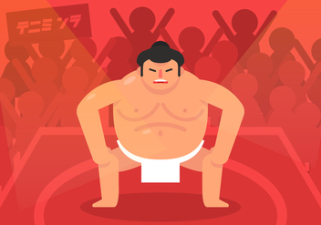 Vector Sumo Wrestler - Free vector #363347