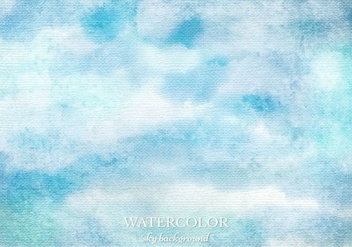 Free Vector Watercolor Sky Background - Free vector #363367