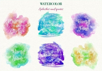 Free Vector Watercolor Splashes - vector gratuit #363397